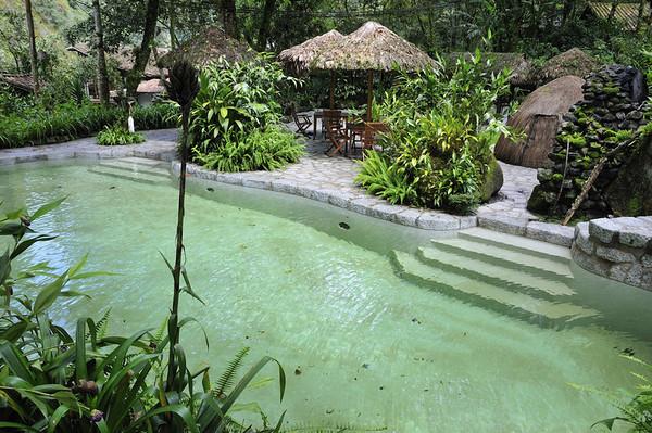 Pool outside my room, Inkaterra Hotel, Aguas Calientes, Peru