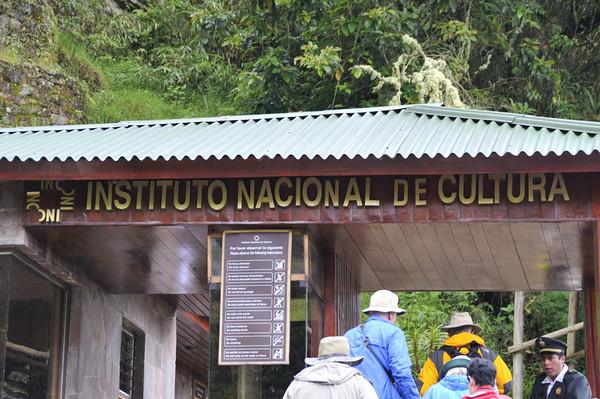 Entering Machu Picchu, Peru