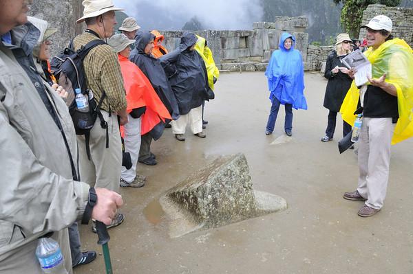 A natural piece of stone left in place, Machu Picchu, Peru