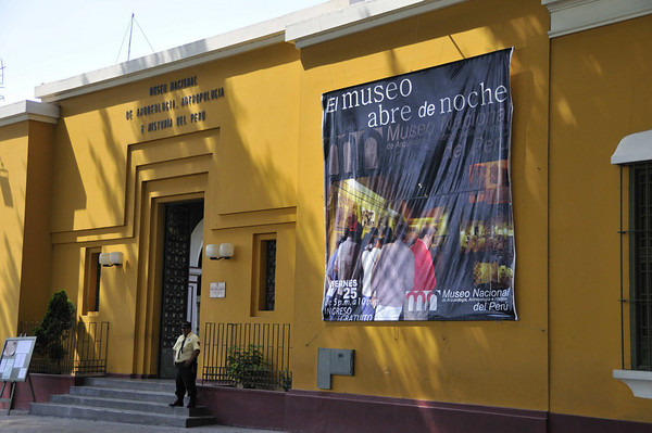entrance to the Archaelogical Museum, Lima, Peru