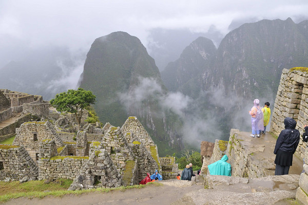enjoying the view, Machu Picchu, Peru