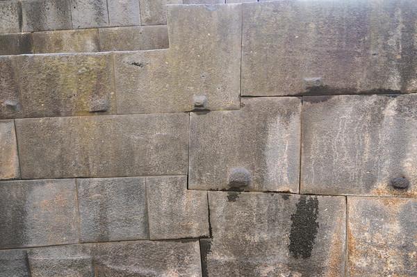 Incan stonework detail, Qorikancha, Cusco, Peru
