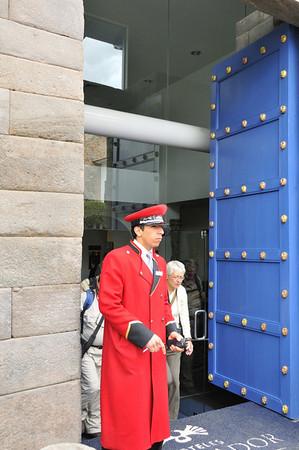 DAY 6  Libertador Hotel doorman, Cusco, Peru