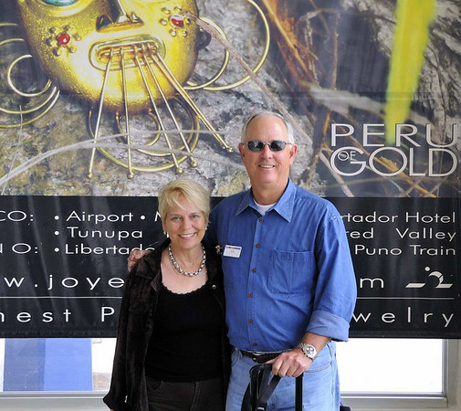 DAY 2  Stephanie & Bill, arrival at airport in Cusco, Peru