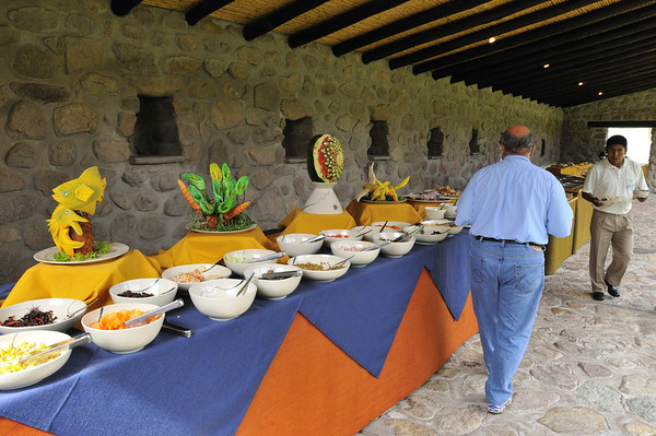 Lunch at the Sol y Luna Hotel, Urubamba Valley, Peru