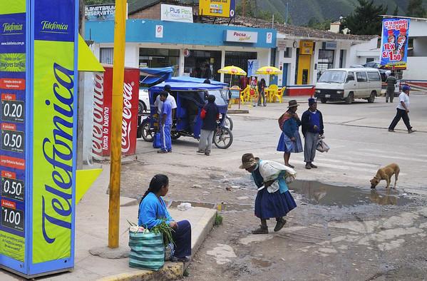 local scene, from the bus, Urubamba, Peru