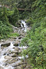River and bridge, from the path to the hotel, Hotel Inkaterra, Aguas Calientes, Urubamba Valley, Peru