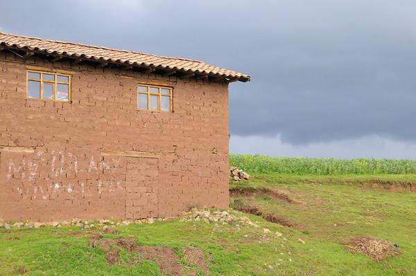 rain approaching, at a stop along the way, Urubamba Valley, Peru