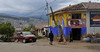 village scene from the bus, Urubamba Valley, Peru