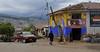 village scene from the bus, Urubamba Valley, Peru