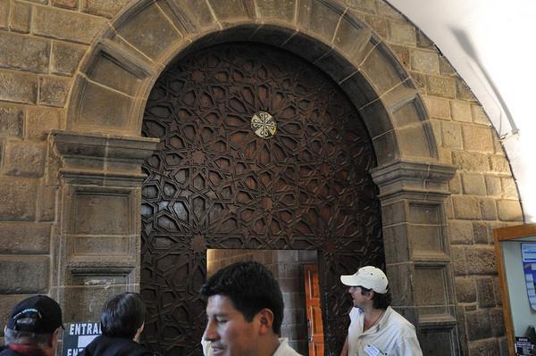 Almost Moorish-style woodwork, Qorikancha, Cusco, Peru