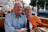 Rosalinda and Tom enjoy a beer and a mojito