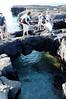 Isla Santiago, lagoon and natural rock bridge
