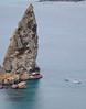 Pinnacle rock, zodiac and glass-bottomed boat, Isla Bartolomé