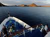 Approaching Isla Bartolomé, dawn