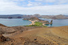View from the top and Pinnacle Rock, Isla Bartolomé