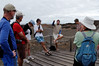 Hernán talks to Las Fregatas (the Frigatebirds, our group name during the expedition)