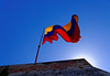 Cartagena Columbia - Castillo San Felipe De Barajas: Columbian flag