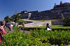 Cartagena Columbia - Castillo San Felipe De Barajas.  The fortress was begun in 1536. It was significantly expanded in 1657. It was built in a triangular shape on top of the hill.  Its name was given in honour of Philip IV of Spain.
