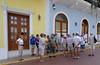 Group waiting for walking adventure, Panama City