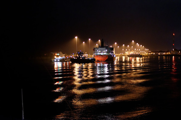 January 11 - Coming into Gatun Locks behind the Valorous Queen from Singapore