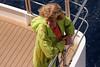 Carole enjoying the calm seas for the moment