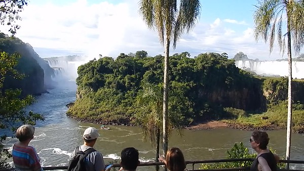 Iguazú Falls, Argentina - Seven of us went on this post-excursion trip. Started off at the lower falls (uncrowded) and worked our way to the top.