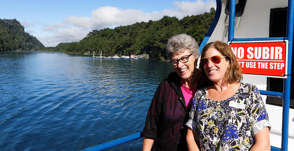 Crossing the Andes:  Suzanne and Ariana