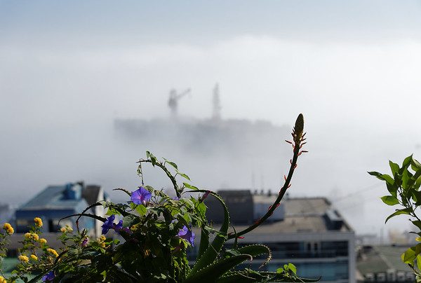 Valpariso, the fog rolls in