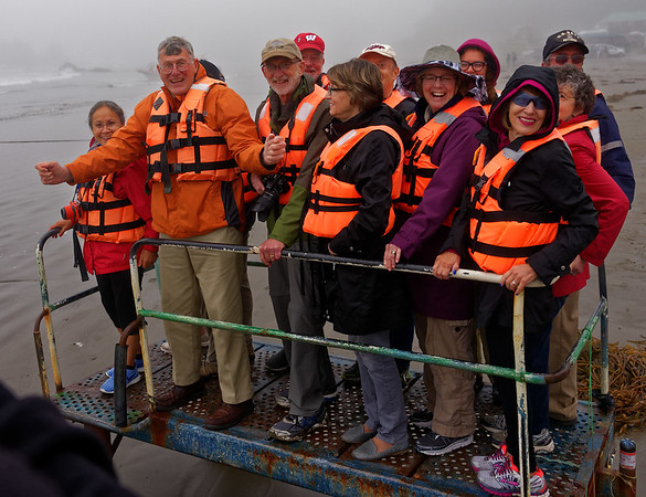 Chiloé Island, Chile - the group headed out