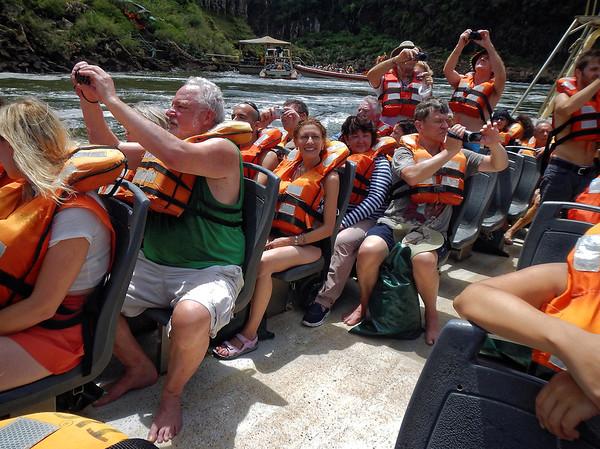 Iguazú Falls - headed for the falls