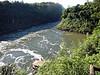 Iguazú Falls - boat station for shooting the falls