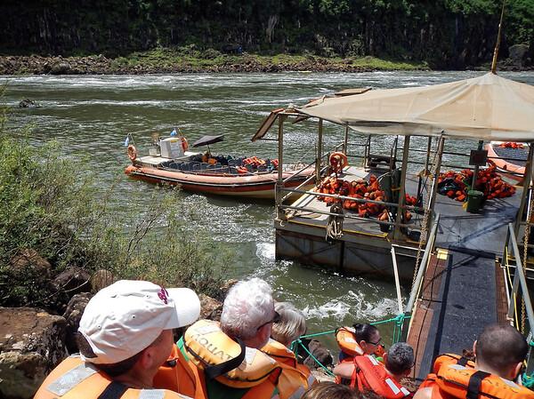 Iguazú Falls - headed to the boat