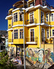 Valpariso, vibrant house with art