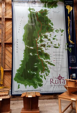 Chiloé Island, Chile - path of the churches