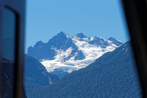 Crossing the Andes:  Volacano Tronador (Thunderer) closeup