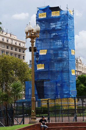 Buenos Aires Argentina - Obelisk being renovated