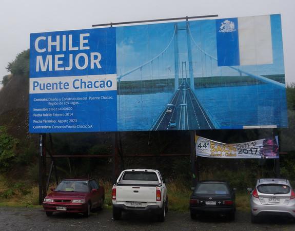 Chiloé Island, Chile - building a new bridge
