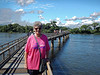 Iguazú Falls - long causway walk to the falls