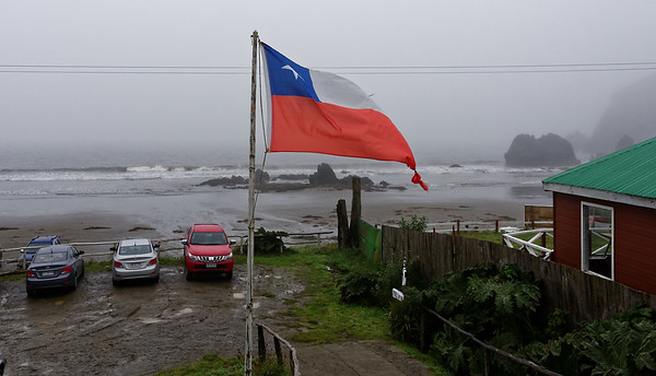 Chiloé Island, Chile - foggy misty day