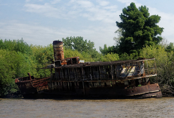 Delta del Paraná - abandoned ship