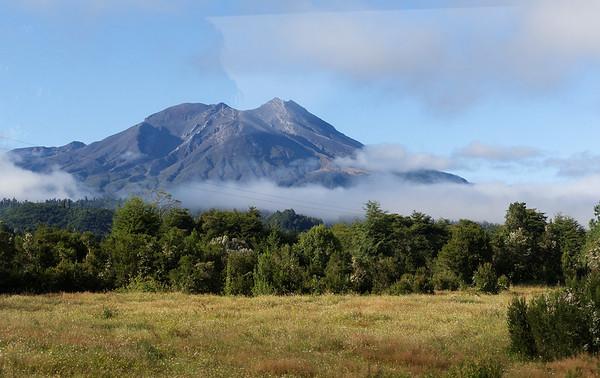 Crossing the Andes:  Volcano Calbuco, major eruption in 2015