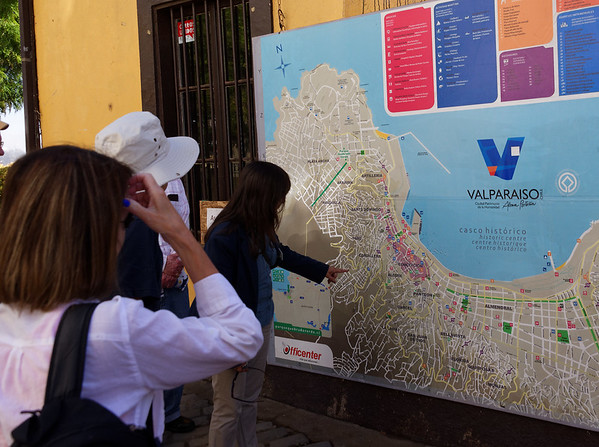 Valpariso, Lisette shows where we've been walking