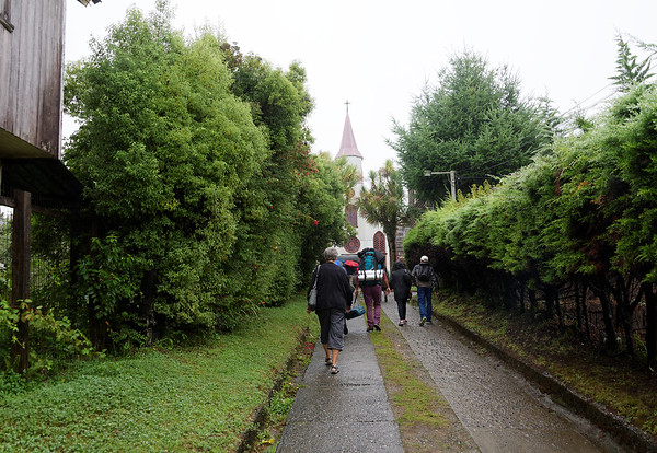 Chiloé Island, Chile - walking to the church museum