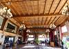 Bariloche, Argentina - Hotel Llao Llao atrium, reminiscent of Yellowstone