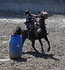 Las Olguitas, Chile - barrel racing, note the head protection (he was the winner)