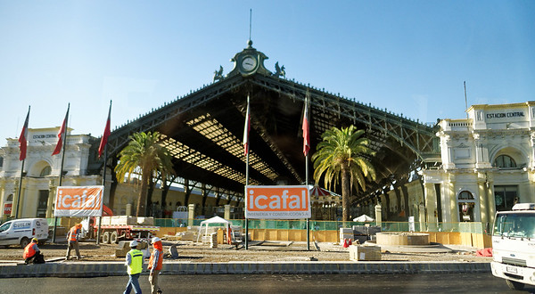 DAY 4: Bus tour around Santiago before flight from Santiago to Puerto Varas -  Estación Central train station