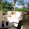 Secrets Akumal - rum & Mexican Coke on the balcony