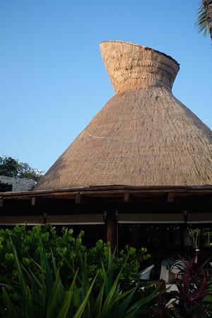 Secrets Akumal - Seaside Grill thatched roof