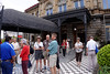 Group outside Teatro Nacional